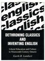 Cover of: Dethroning Classics and Inventing English