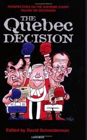 Cover of: The Quebec Decision