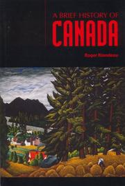 Cover of: A brief history of Canada