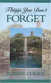 Cover of: Things you don't forget