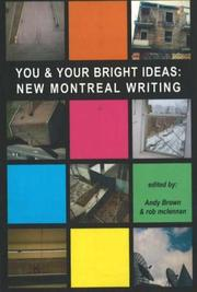 Cover of: You & your bright ideas