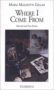 Cover of: Where I come from