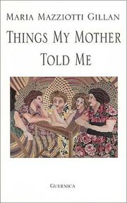 Cover of: Things my mother told me