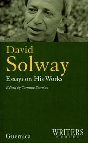 Cover of: David Solway