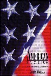 Cover of: American English | KoМ€vecses, ZoltaМЃn.