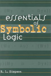 Cover of: Essentials of symbolic logic