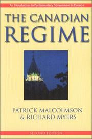 Cover of: The Canadian regime