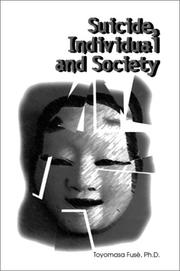 Cover of: Suicide, individual, and society
