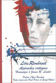 Cover of: Lire Rimbaud