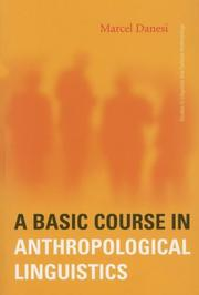 Cover of: A Basic Course in Anthropological Linguistics (Studies in Linguistic and Cultural Anthropology)