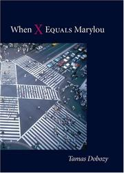 Cover of: When x equals Marylou | Tamas Dobozy