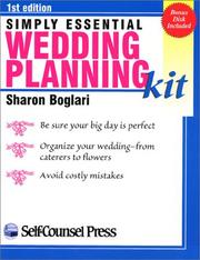 Cover of: Simply Essential Wedding Planning Kit