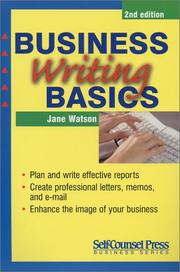 Cover of: Business Writing Basics (Self-Counsel Business)
