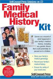 Cover of: Family Medical History Kit