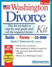 Cover of: Washington Divorce Kit | Mark T. Patterson