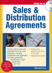 Cover of: Sales & Distribution Agreements |
