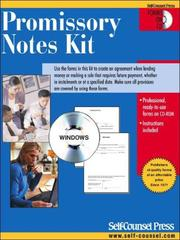 Cover of: Promissory Notes Kit | Self-Counsel Press