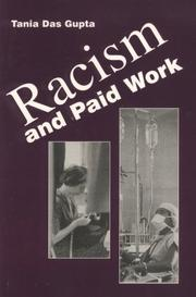 Cover of: Racism and paid work