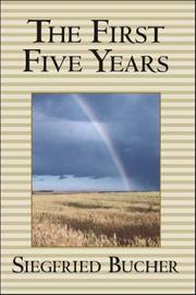 Cover of: The First Five Years