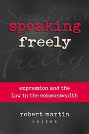 Cover of: Speaking freely |