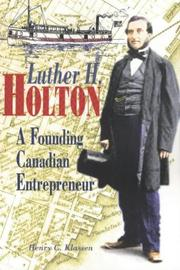 Cover of: Luther H. Holton