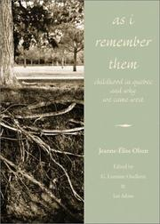 Cover of: As I remember them