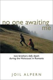 Cover of: No one awaiting me | Joil Alpern