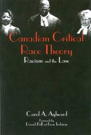 Cover of: Canadian critical race theory