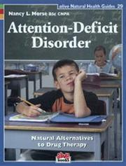 Cover of: Attention-Deficit Disorder | Nancy L. Morse