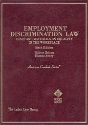 Cover of: Employment discrimination law cases and materials on equality in the workplace by
