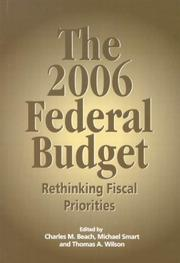 Cover of: 2006 Federal Budget | Charles M. Beach