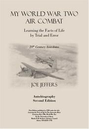 Cover of: My World War Two Air Combat