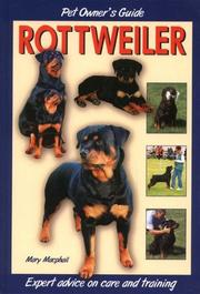 Cover of: Rottweiler (Dog Owner's Guide)