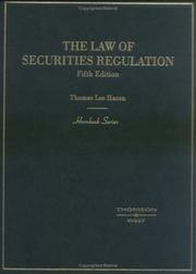 Cover of: The law of securities regulation
