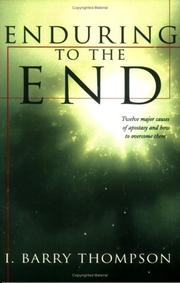Cover of: Enduring to the end