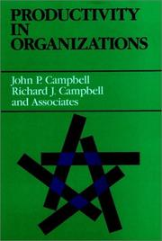 Cover of: Productivity in organizations |