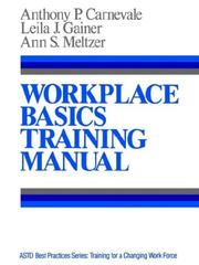 Cover of: Workplace basics training manual