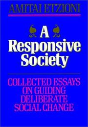 Cover of: A responsive society