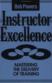 Cover of: Instructor excellence