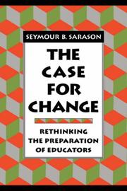 Cover of: The case for change
