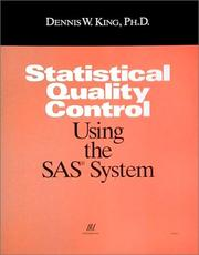 Cover of: Statistical quality control using the SAS system