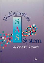 Cover of: Working with the SAS system