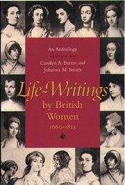 Cover of: Life-Writings By British Women, 1660-1815 |