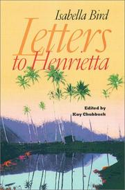 Cover of: Letters to Henrietta