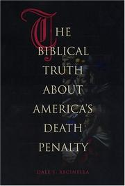 Cover of: The Biblical Truth about America's Death Penalty