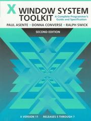 Cover of: X Window system toolkit