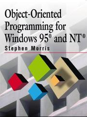 Cover of: Object-oriented programming for Windows 95 and NT | Morris, Stephen