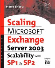 Cover of: Microsoft® Exchange Server 2003 Scalability with SP1 and SP2 (HP Technologies)