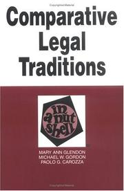 Cover of: Comparative legal traditions in a nutshell