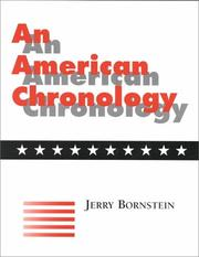 Cover of: An American chronology
